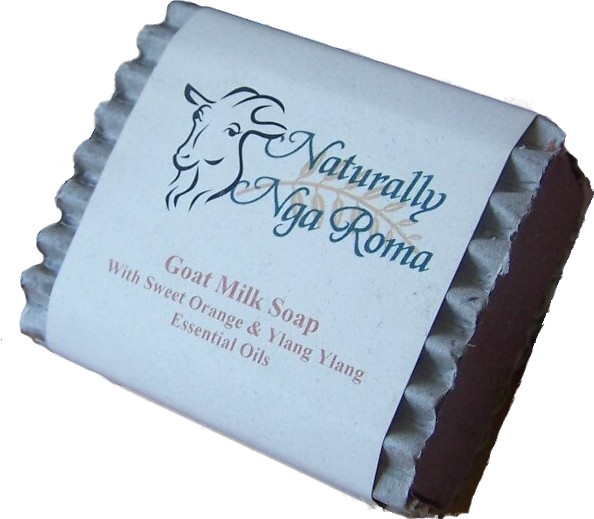 Naturally NgaRoma Goats Milk Soap with Swt Orange & YlangYlang